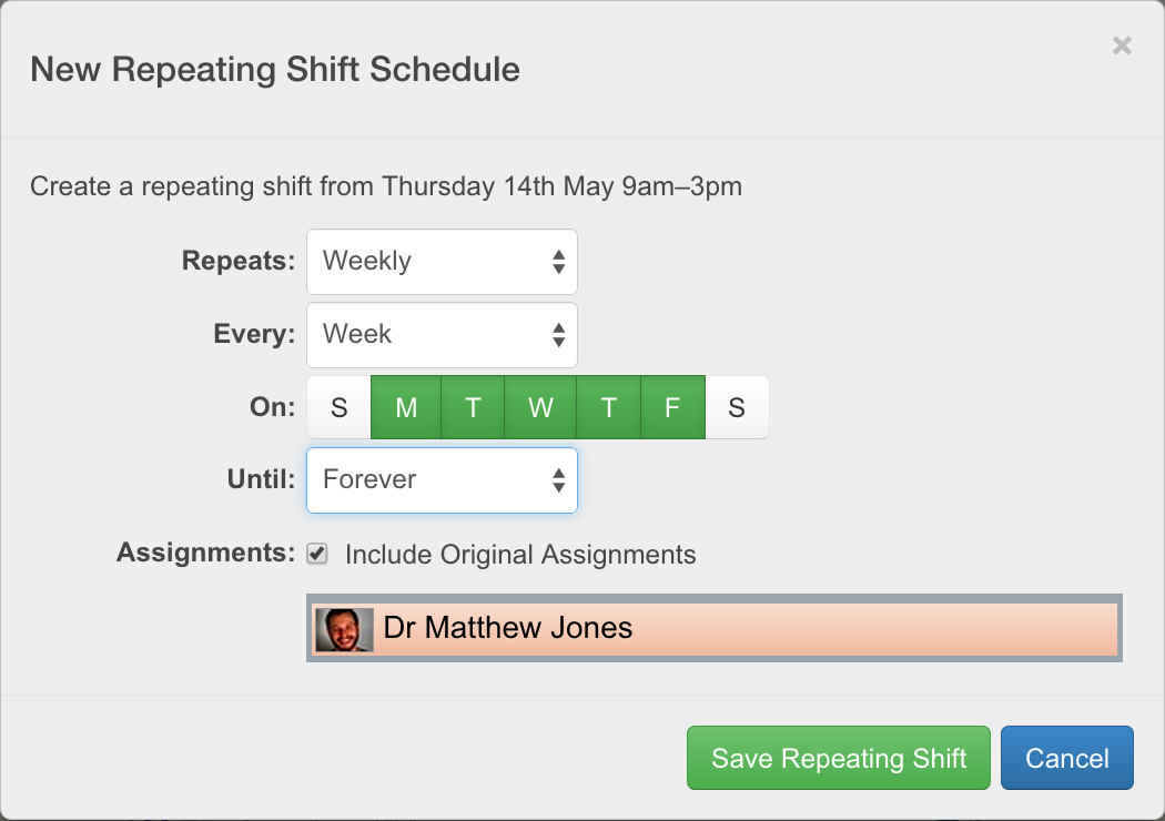 new repeating shift