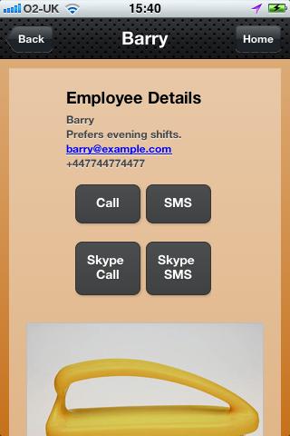 Employee Information Rota