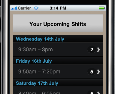 The Rotaville Rota Mobile Site