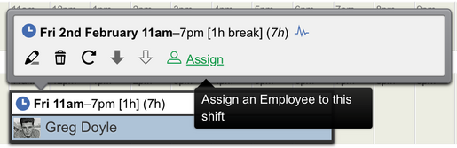 Assign employee to shift